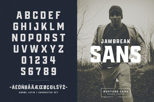 Display Fonts: BoxTube Labs - Jawbreak