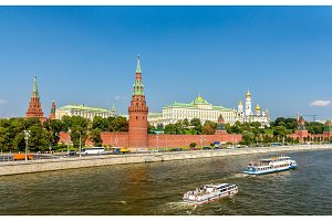 Panorama of Moscow Kremlin with the Moskva river - Russia