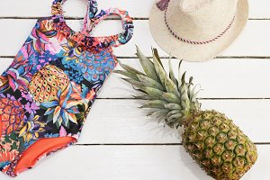 Girl's accessories for the beach