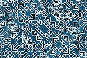 Modern Islamic Style Geometric Seamless Pattern