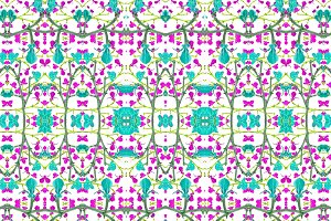 Colorful Modern Baroque Seamless Pattern