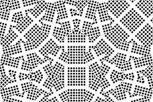 Black and White Dotted Geometric Seamless Pattern