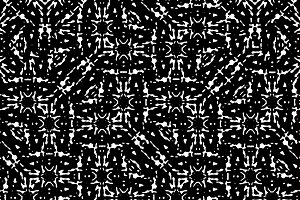 Black and White Abstract Seamless Pattern