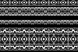 Aztec Boho Stripe Seamless Pattern