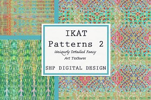 Ikat Ethnic Pattern Set 2