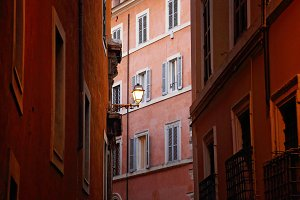 Rome streets in historic town