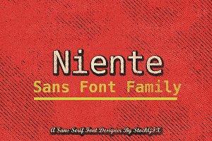 Niente Sans Font Family