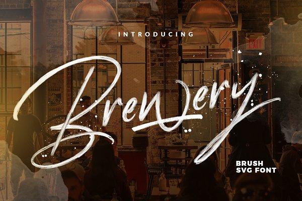 Fonts: Dirtyline Studio - Brewery - SVG FONT ⚡️