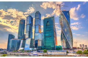 View of the Moscow International Business Centre also known as Moscow-City. Russia