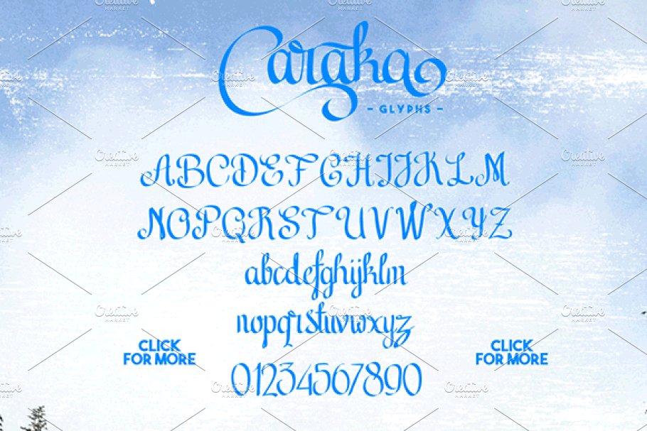 Best Caraka - Script Font Vector