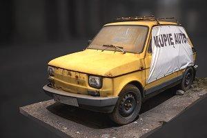 Fiat 126 3d scan