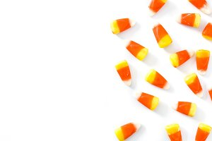 Typical halloween candy corn