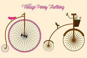 Penny Farthing Png Elements