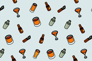Alcohol color outline isometric