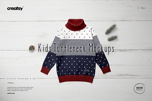 Kids Turtleneck Mockup Set