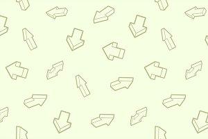 Arrows outline isometric pattern