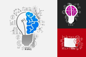 5 BRAINS STICKERS-business formulas