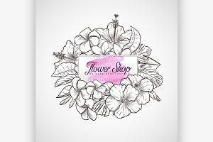 Bouquet of hibiscus and plumeria