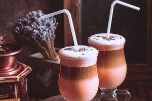 The delicious coffee drink
