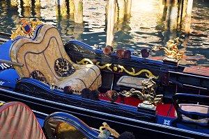 Gondolas near Rialto Bridge, Venice