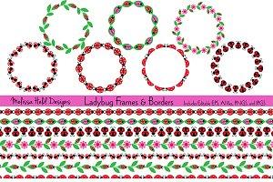 Ladybug Frames & Borders