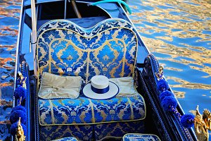 Gondola near Rialto bridge, Venice