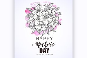 Greeting card to mothers day