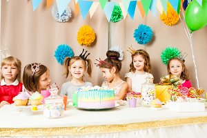 little princesses are celebrating birthday