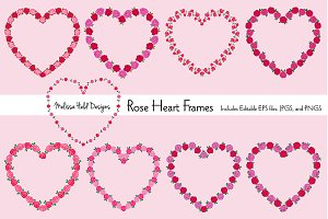 Rose Heart Frames