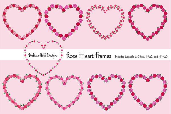 Rose Heart Frames