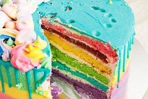 amazing colorful birthday cake