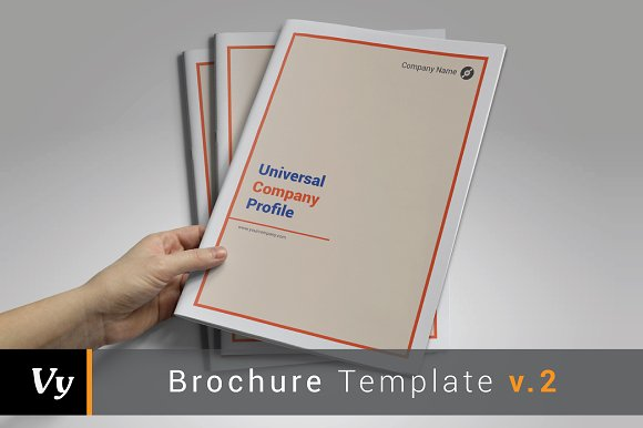 Company Profile Template Brochure Templates Creative Market - Company profile brochure template