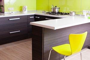 Modern kitchen in the villa