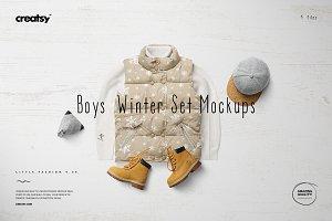 Boys Winter Set Mockups