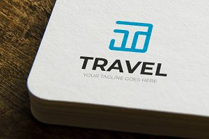 Travel T Logo Template