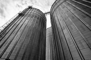 Agricultural Silos in Ontario, Canad