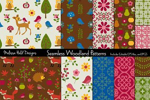 Seamless Woodland Patterns