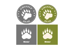Bear Paw Print Logo Collection