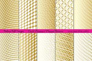 Gold Abstract Warped Patterns