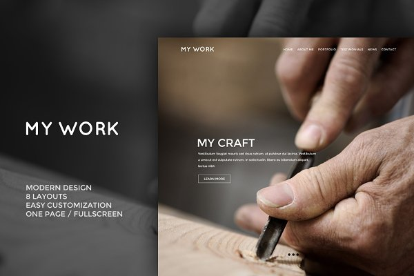 Landing Page Templates - MyWork - PSD Website Template