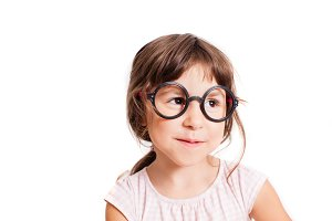 Cute girl wearing eyeglasses