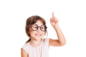 Smart preschool age girl