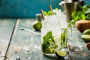 summer drinks concept