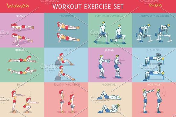 Workout Exercise Set