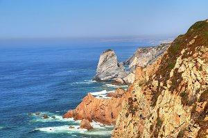 Cabo da Roca scenic shore line