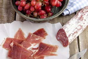 jamon,salchicho,uvas