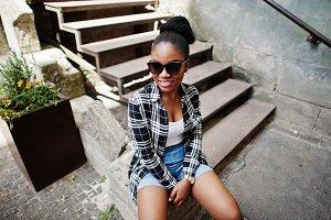 Hip hop african american girl