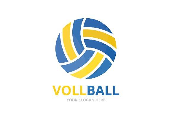 Vector Volleyball Logo Combination Creative Logo Templates