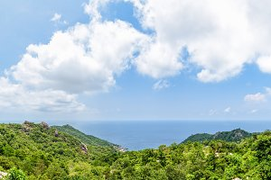 Panorama from viewpoint at Koh Tao