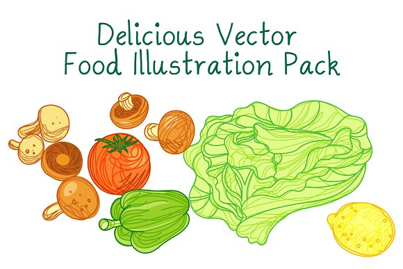 Delicious Food Vector Pack